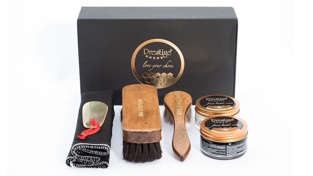 Shoe Care Kit , Neutral & Black For leather